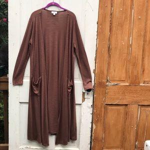 LuLaRoe long cardigan with pockets Size Large